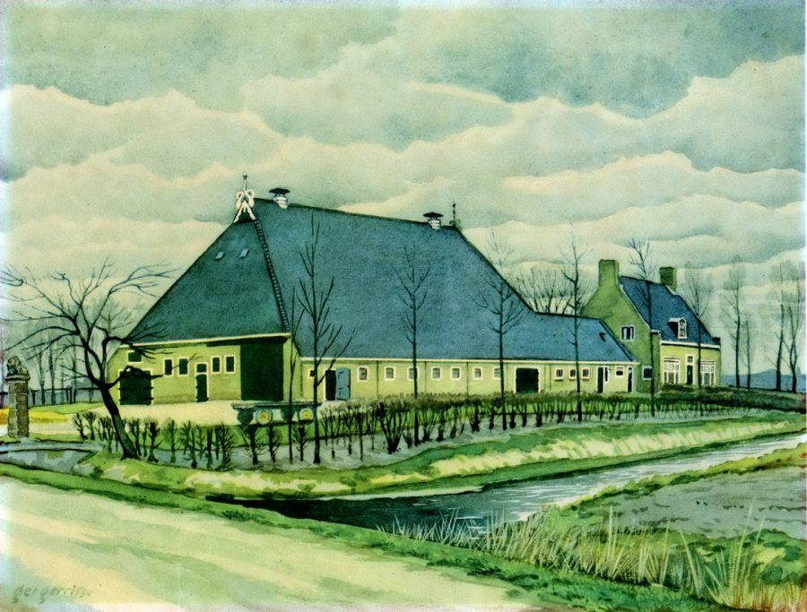 Friese kop-hals-romp boerderij te Minnertsga