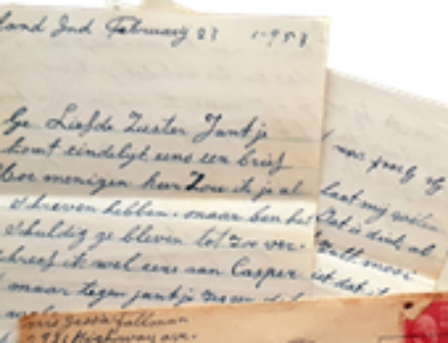 Brief uit 1953 van geëmigreerde Minnertsgaaster