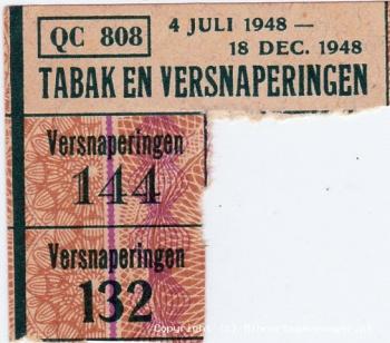 Bonkaart Tabaken versnaperingen