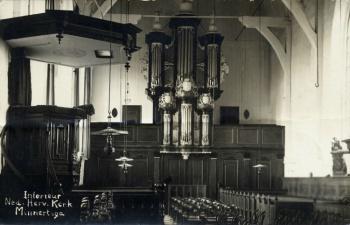 Interieur Ned. Hervormde kerk 1918