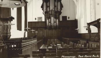 Interieur Ned. Hervormde kerk 1920