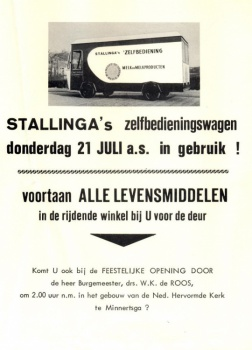 Openingsfolder eerste rijdende winkel van Fryslân