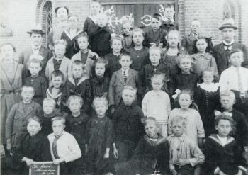 Klassenfoto Christelijke Nationaal Lagere School 1914