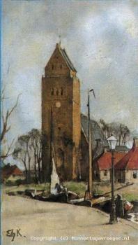 Verkade albumplaatje Minnertsga Jac. P. Thijsse