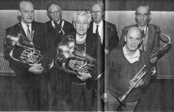Leden muziekkorps Oranje