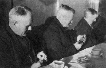 Eerste pensioenuitkering landarbeiders november 1949