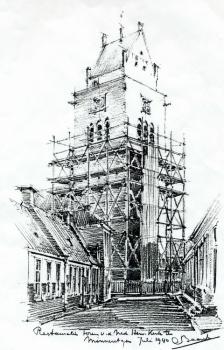 Tekening restauratie toren
