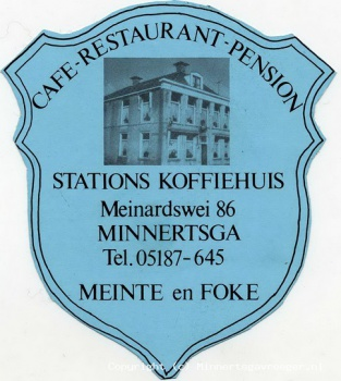 Reclame sticker Stations koffiehuis