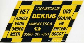Reclame sticker Loonbedrijf Bekius