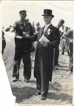 Piet Norbruis en burgemeester Klok