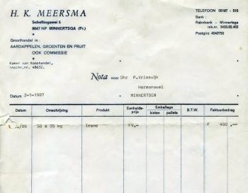 Nota Meersma voor Vrieswijk (1987)