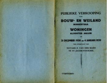 Publieke verkoping voor Gijsbert Boomsma (1939)