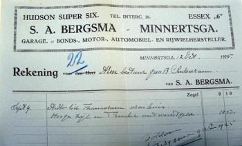 Rekening S. Bergsma 1925