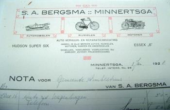 Nota S.A. Bergsma 1928