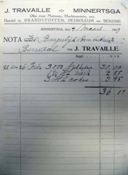 Nota J. Travaille 1929