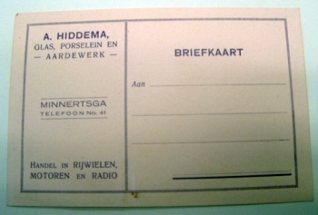 Briefkaart A. Hiddema