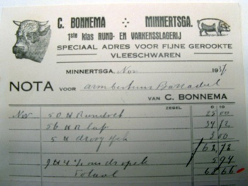 Nota C. Bonnema 1937