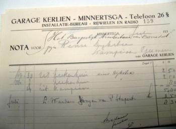 Nota Garage Kerlien 1938