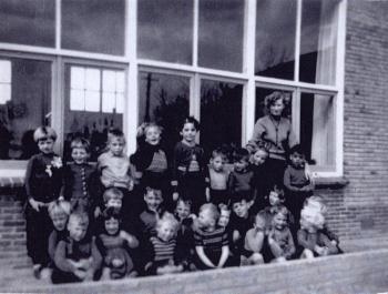 Schoolfoto OLS kleuterschool 1956