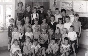 Schoolfoto OLS kleuterschool 1962