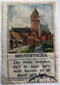 Postzegel Minnertsga
