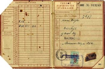 Distributie stamkaart Dirkje van Dijk (09-11-1939)