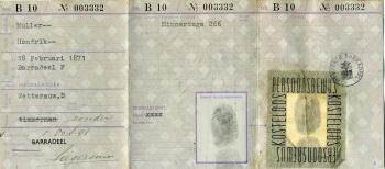 Persoonsbewijs Hendrik Muller (binnenkant)