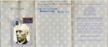 Persoonsbewijs Hendrik Muller (buitenkant)
