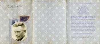 Persoonsbewijs Johannes Muller (buitenkant)