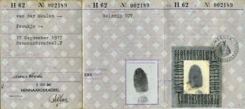 Persoonsbewijs Frouwkje van der Meulen (binnenkant)