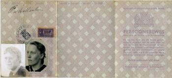 Persoonsbewijs Frouwkje van der Meulen (buitenkant)