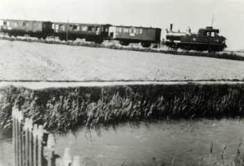 Spoorwegtracé bij Oosterbierum