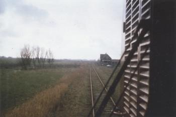 Spoorwegtracé bij Blija