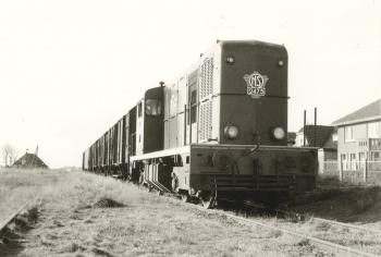 Spoorwegtracé bij Ferwerd
