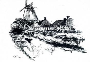 Pentekening molen De Welkomst