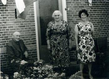 Cornelis Hoekstra Heintje Haagsma en dochter Akke
