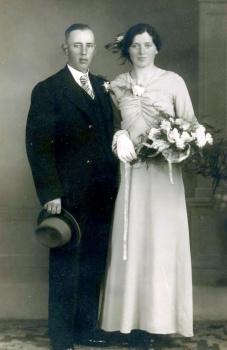 Echtpaar Klaas Haarsma en Pietje Algra
