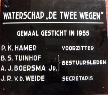 Gedenksteen Waterschap De Twee Wegen