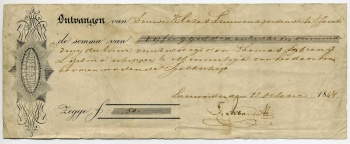 Kwitantie Douwe Klases Lieuwes 22 oktober 1847.jpg