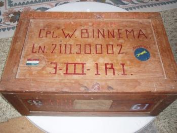 Wijbe Binnema 1921-1948 legerkist