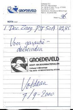 Nota Groeneveld Handelsonderneming V.O.F.
