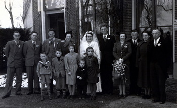 Huwelijk Joostema-Faber en Faber-de Groot