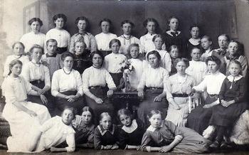 Groep jonge vrouwen