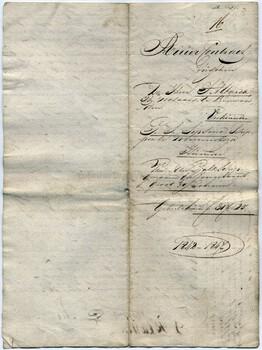 Thomas Sijbrens Sipsma huurcontract tjalkschik De Jong Evert 1842-1847